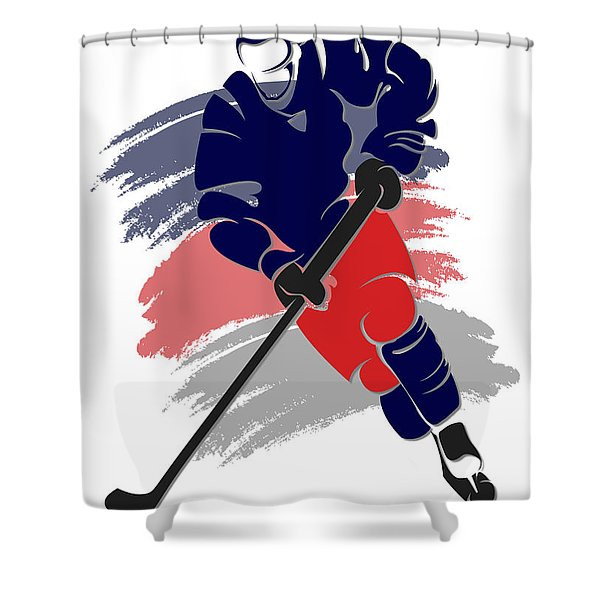 Blue Jackets Shadow Player2 Shower Curtain