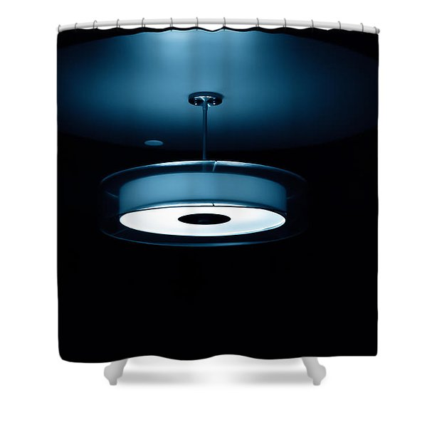 Blue Light Shower Curtain