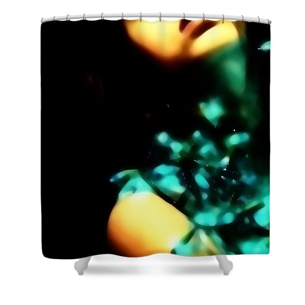 Blue Lights Shower Curtain