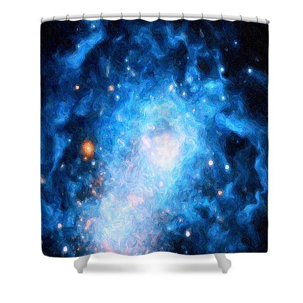 Blue Magellan Shower Curtain