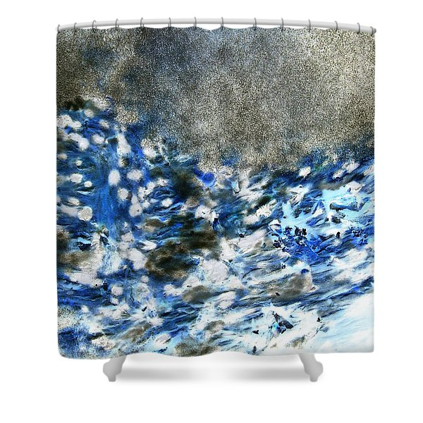 Blue Mold Shower Curtain