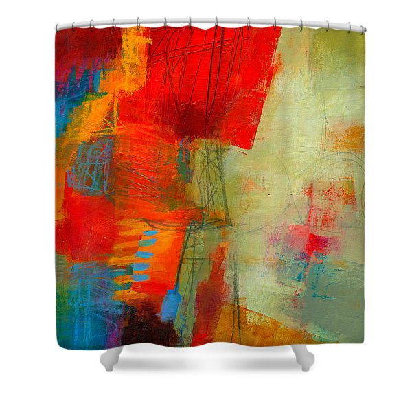Blue Orange 1 Shower Curtain