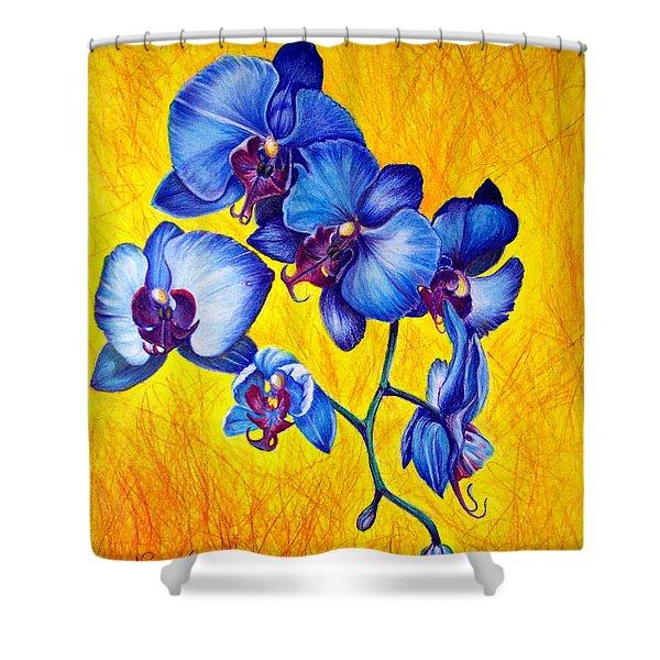 Blue Orchids 1 Shower Curtain