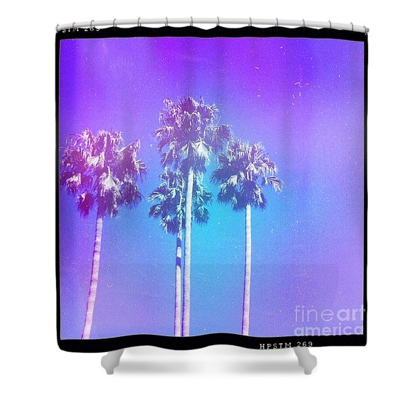 Blue Palms Shower Curtain