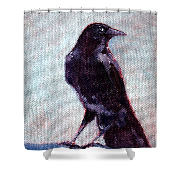Blue Raven Shower Curtain