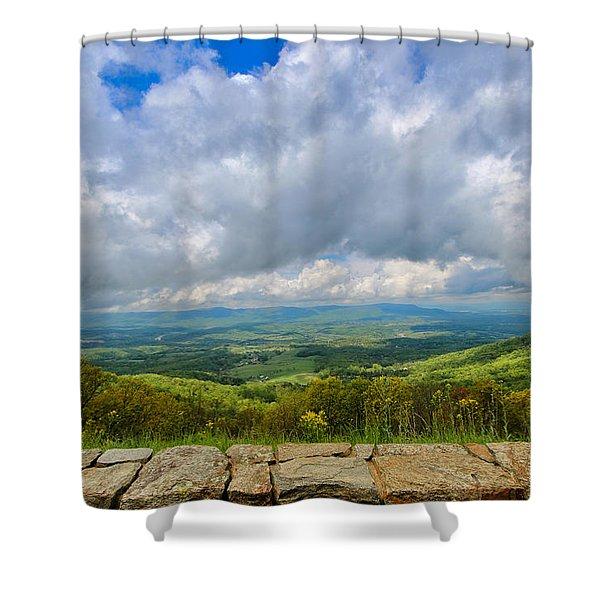 Blue Ridge Bounty Shower Curtain
