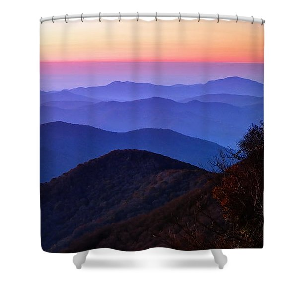 Blue Ridge Dawn Shower Curtain