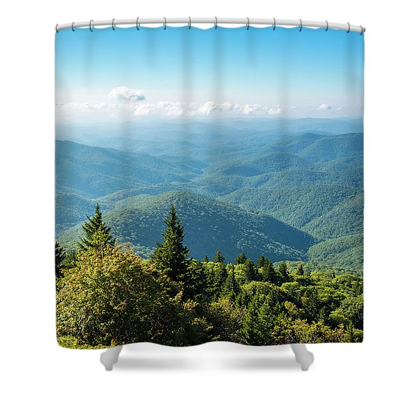 Blue Ridge Mountains From Devils Shower Curtain
