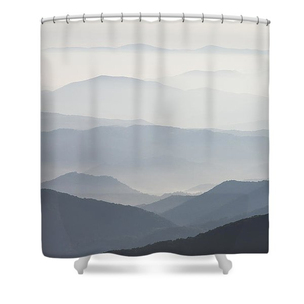 Blue Ridge Mountains View From Roan Mountain Balds Shower Curtain