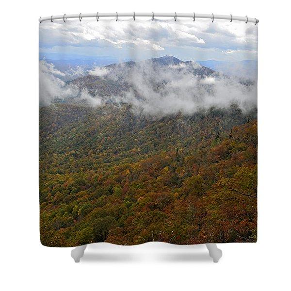 Blue Ridge Parkway Mountain View Shower Curtain