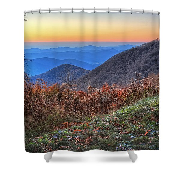 Blue Ridge Sunrise Shower Curtain
