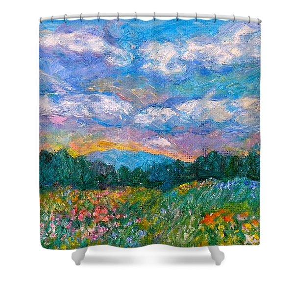 Blue Ridge Wildflowers Shower Curtain
