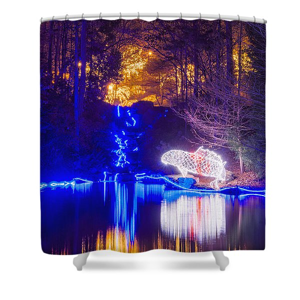 Blue River - Crop Shower Curtain