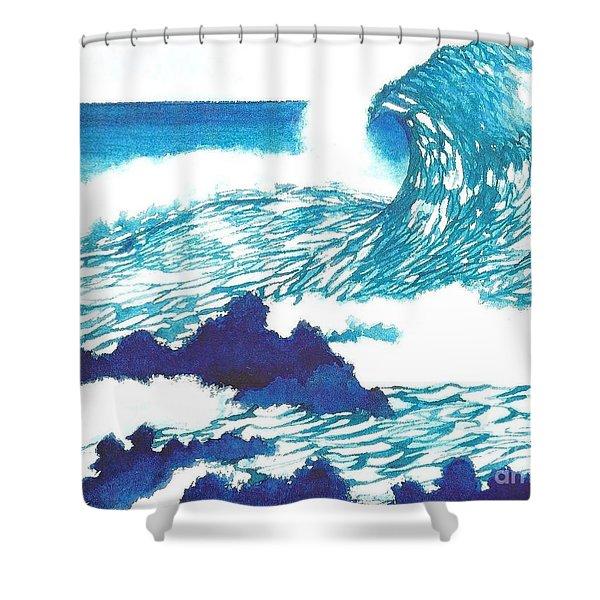 Blue Roar Shower Curtain