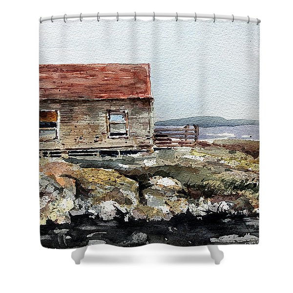 Blue Rocks Nova Scotia Shower Curtain