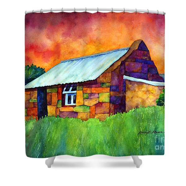 Blue Roof Cottage Shower Curtain