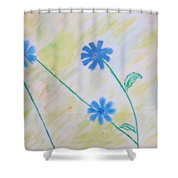Blue Sailors Shower Curtain