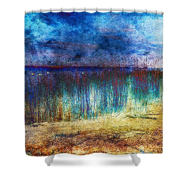 Blue Shore Shower Curtain
