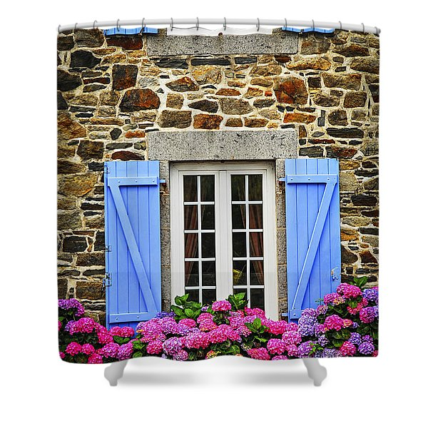 Blue Shutters Shower Curtain