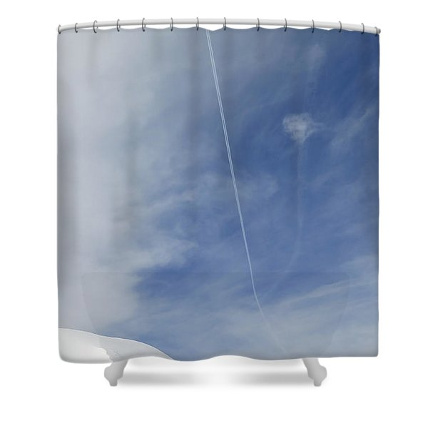 Blue Sky And Snow Shower Curtain