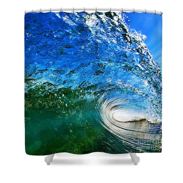 Blue Tube Shower Curtain