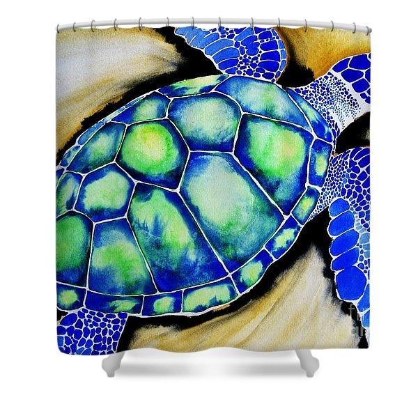 Blue Turtle Shower Curtain