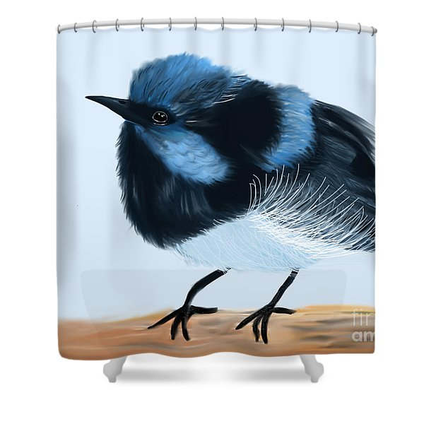 Blue Wren Beauty Shower Curtain