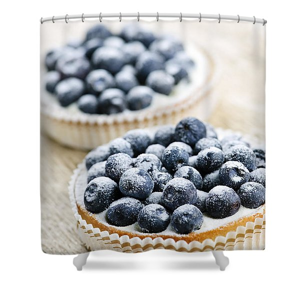 Blueberry Tarts Shower Curtain