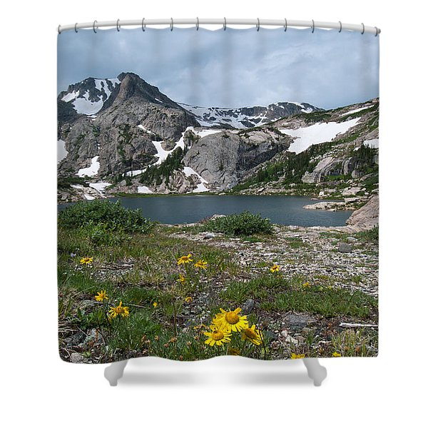 Bluebird Lake - Colorado Shower Curtain