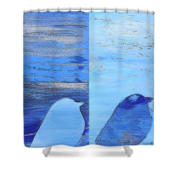 Bluebirds Shower Curtain