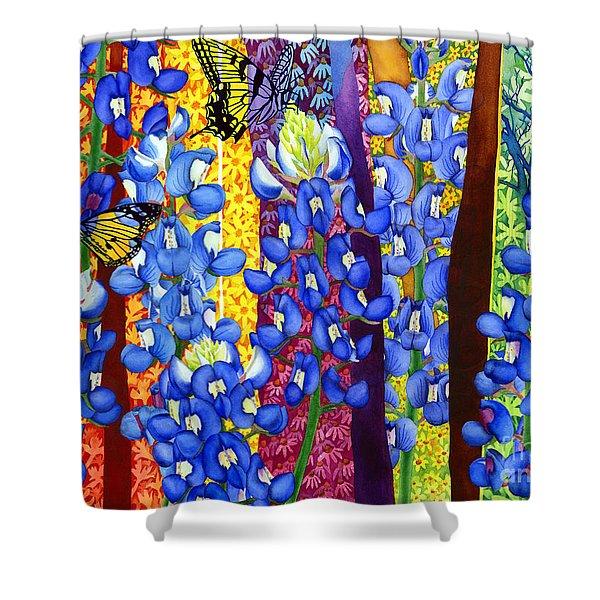 Bluebonnet Garden Shower Curtain