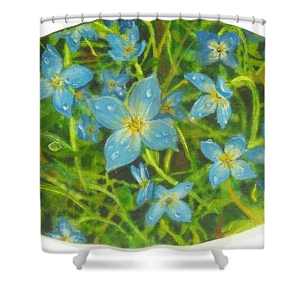 Bluets Of The Shenandoah  Shower Curtain