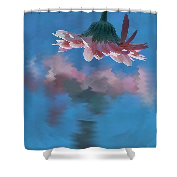 Blushing Pink Bloom Shower Curtain