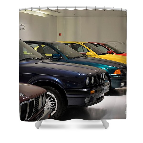 Bmw Cars Through The Years Munich Germany Shower Curtain