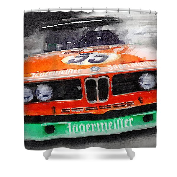 Bmw Front End Watercolor Shower Curtain