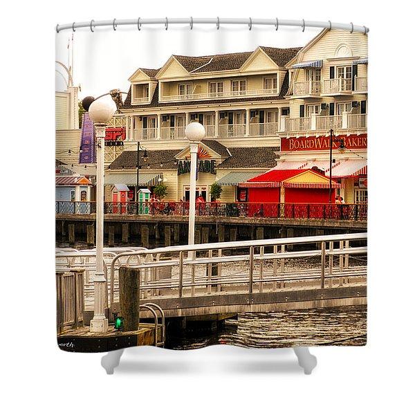 Boardwalk Bakery Walt Disney World Shower Curtain