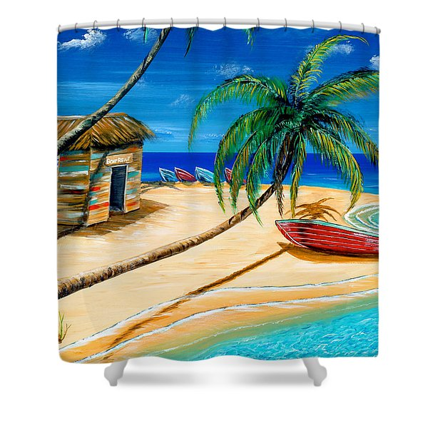 Boat Rent Shower Curtain