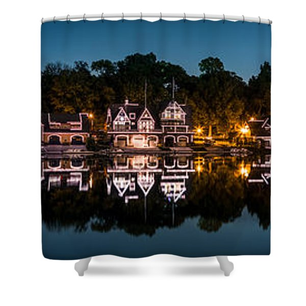 Boathouse Row Panorama Shower Curtain