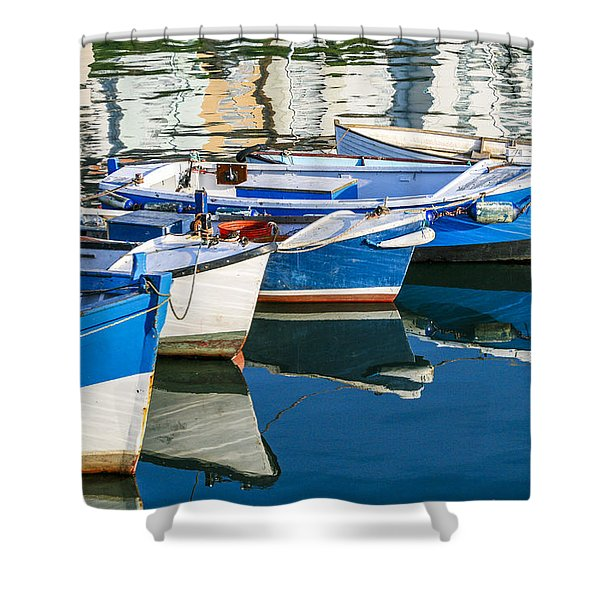 Boats At Anchor Shower Curtain