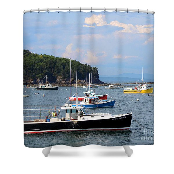 Shower Curtain featuring the photograph Boats In Bar Harbor by Jemmy Archer