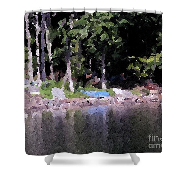 Boats On The Beach Shower Curtain