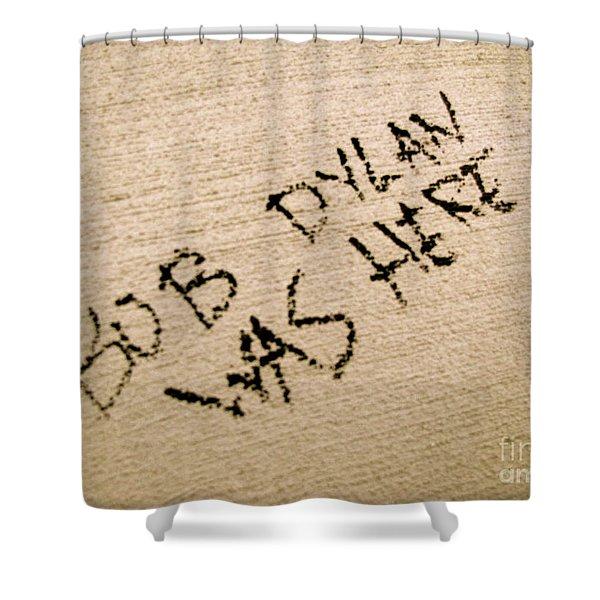Bob Dylan Graffiti Shower Curtain