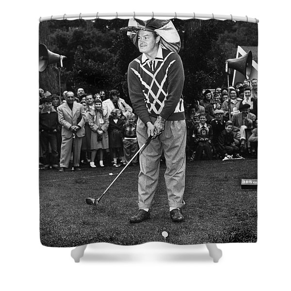 Bob Hope At Bing Crosby National Pro-am Golf Championship  Pebble Beach Circa 1955 Shower Curtain