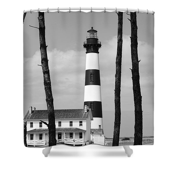 Bodie Island Lighthouse In The Outer Banks Shower Curtain