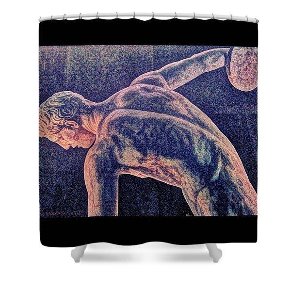 Body Beautiful Sculpture Shower Curtain