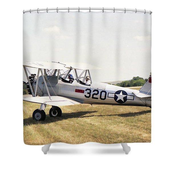 Boeing Stearman Shower Curtain