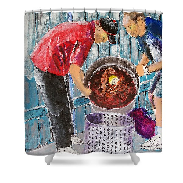 Boiling Mud Bugs Shower Curtain