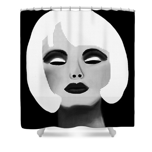 Bold Blonde Beauty Shower Curtain