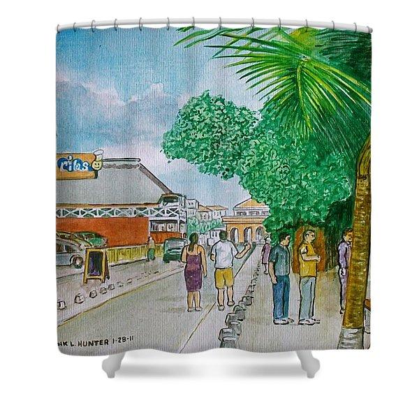 Bonaire Street Shower Curtain