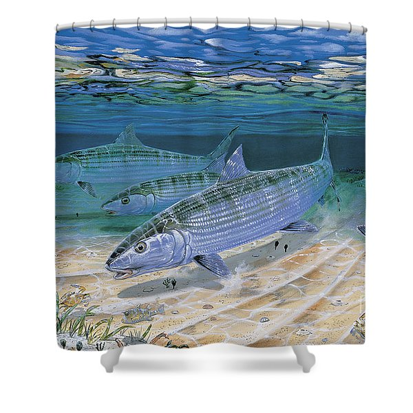 Bonefish Flats In002 Shower Curtain